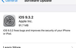 Apple tung bản vá iOS 9.3.2 khắc phục lỗi trên iPhone SE