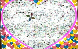 Trái tim được ghép từ hàng trăm bức ảnh tại Ngày hội Gia đình Việt Nam