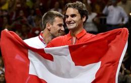 Federer giúp ĐT Thụy Sĩ vào chung kết Davis Cup sau 22 năm