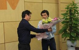 Nhà báo Phan Ngọc Tiến chính thức nhận quyết định giữ chức Trưởng ban Sản xuất các chương trình Thể thao