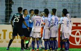 VFF kết luận vụ trọng tài 'bẻ cờ' trên sân Chi Lăng không quá nghiêm trọng