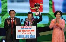 Thành Lương giành Quả bóng Vàng nam Việt Nam 2014