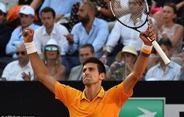 Vượt qua Federer, Djokovic giành vinh quang xứng đáng tại Rome Masters 2015