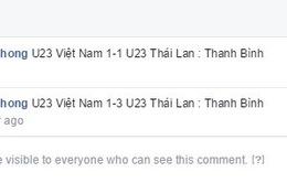 Kết quả chương trình dự đoán kết quả trận U23 Việt Nam - U23 Thái Lan