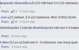 Kết quả chương trình dự đoán kết quả trận U23 Việt Nam - U23 Indonesia