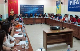 """U14 nữ Việt Nam đặt mục tiêu """"tích lũy kinh nghiệm"""" tại giải U14 châu Á"""