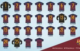Barcelona công bố số áo mùa giải mới: Dani Alves lại đổi số, Turan, Vidal chưa được gắn số