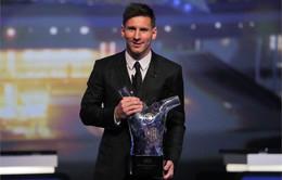 Vượt qua Ronaldo, Suarez, Leo Messi nhận giải cầu thủ xuất sắc châu Âu mùa 2014 - 2015