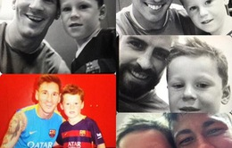 Con trai cả nhà Rooney là Fan nhí của Barcelona