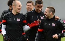 Robben, Ribery rục rịch trở lại, Bayern như hổ mọc thêm cánh