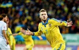 Play-off Euro 2016: Ukraine chạm 1 tay vào tấm vé tới Pháp