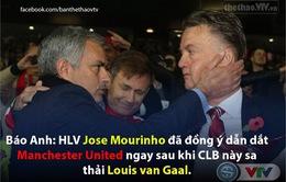 Nếu Van Gaal bị sa thải, Mourinho sẽ là người kế nhiệm