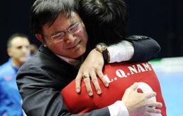 [Chùm ảnh] ĐT Việt Nam ăn mừng chiến tích vào World Cup: Vui sao nước mắt lại trào
