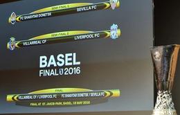 Bán kết Europa League 2015-16: Villarreal gặp Liverpool. Shakhtar Donetsk đụng độ Sevilla