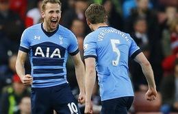 Stoke 0-4 Tottenham: Kane và Alli bùng nổ, Spurs gây áp lực khủng khiếp lên Leicester