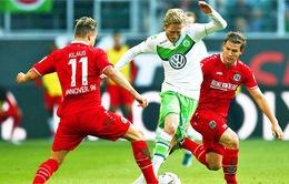 [HIGHLIGHT] Hannover 0-4 Wolfsburg: Hat-trick đầu tiên của Schurrle
