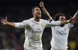 Ronaldo thiết lập hai kỉ lục trong buổi tối kì diệu tại Bernabeu