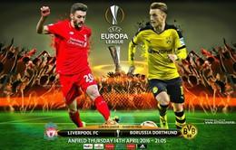 02h05 ngày 15/04, Liverpool – Borussia Dortmund: Không khoan nhượng (Lượt về tứ kết Europa League)