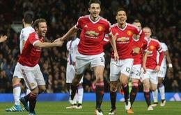 Đá bù vòng 30 Ngoại hạng Anh: Man Utd nhẹ nhàng vượt qua Crystal Palace
