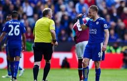Vardy chính thức nhận án phạt bổ sung, nghỉ trận gặp Man Utd