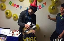 Xuân Trường và bữa tiệc sinh nhật bất ngờ ở Hàn Quốc