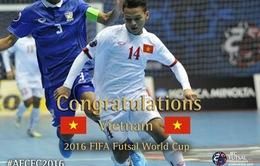 Ngày 19/5 bốc thăm xếp lịch thi đấu VCK FIFA Futsal World Cup 2016