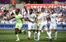 [HIGHLIGHT] Swansea 1-1 Man City: Cầm chắc vị trí thứ 4