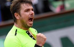 Vòng 1 Pháp Mở Rộng 2016: Wawrinka nhọc nhằn vượt qua Lukas Rosol