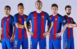 Barca công bố áo đấu ấn tượng cho mùa giải mới 2016/17