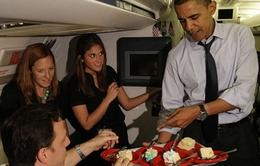 Tổng thống Obama được vợ tổ chức sinh nhật hoàng tráng
