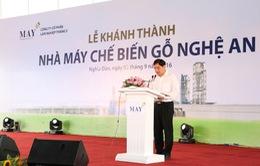Phó thủ tướng Vương Đình Huệ cắt băng khánh thành nhà máy 300 triệu USD tại Nghệ An