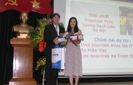 """Trao giải Cuộc thi """"Phóng viên trẻ Pháp ngữ - Việt Nam 2016"""""""