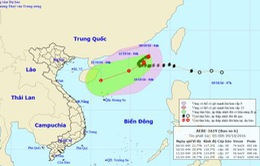 Bão số 6 giật cấp 11 đang tiến vào biển Đông