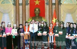 Chủ tịch nước Trần Đại Quang gặp mặt học sinh, sinh viên dân tộc thiểu số xuất sắc