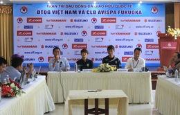 Hơn 40 nghìn vé xem trận giao hữu bóng đá giữa ĐT Việt Nam và CLB Avispa Fukuoka