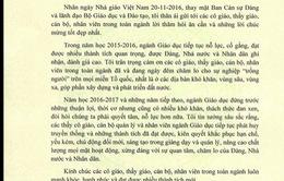 Bộ trưởng Bộ Giáo dục và Đào tạo gửi thư chúc mừng các nhà giáo nhân ngày 20/11