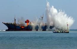 Indonesia đánh chìm thêm tàu cá nước ngoài đánh bắt trái phép