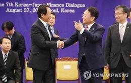 Nhật Bản, Hàn Quốc đàm phán hoán đổi tiền tệ