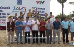 Đội Australia 1 đăng quang Giải bóng chuyền bãi biển nữ châu Á 2016