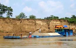 Mở đợt cao điểm xử lý vi phạm khai thác cát, sỏi lòng sông