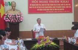 Kiểm tra, giám sát phòng, chống tham nhũng tại Thái Nguyên