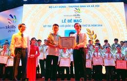 65 giải Nhất được trao tại Kỳ thi tay nghề quốc gia lần thứ IX
