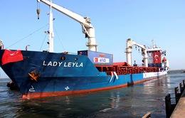 Tàu cứu trợ của Thổ Nhĩ Kỳ cập cảng Israel