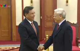 Tổng bí thư Nguyễn Phú Trọng tiếp Đoàn đại biểu cấp cao Lào