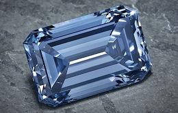 Đấu giá viên kim cương xanh lớn nhất thế giới