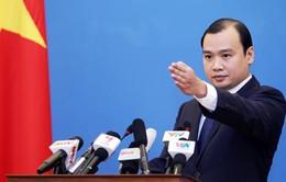 Việt Nam kiên quyết yêu cầu Trung Quốc chấm dứt việc bay thử trên đá Chữ Thập