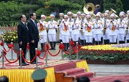 Lễ đón chính thức Tổng thống Pháp Francois Hollande thăm Việt Nam
