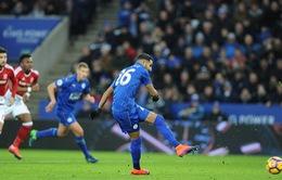 Vòng 13 giải Ngoại hạng Anh: Leicester City 2 - 2 Middlesbrough: Thoát hiểm phút bù giờ
