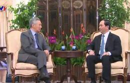 Chủ tịch nước Trần Đại Quang hội kiến Thủ tướng Lý Hiển Long