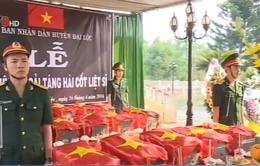 Quảng Nam: Truy điệu và cải táng 15 hài cốt liệt sỹ